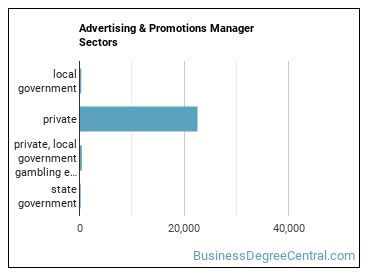 Advertising & Promotions Manager Sectors