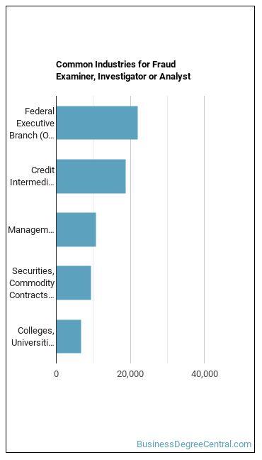 Fraud Examiner, Investigator or Analyst Industries