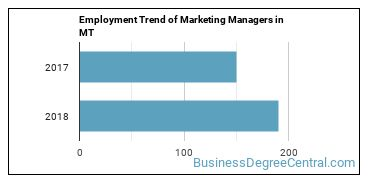 Marketing Managers in MT Employment Trend