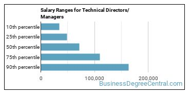 Salary Ranges for Technical Directors/Managers