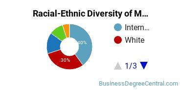 Racial-Ethnic Diversity of Marketing/Marketing Management, General Majors at American University