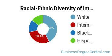 Racial-Ethnic Diversity of International & Intercultural Communication Majors at American University