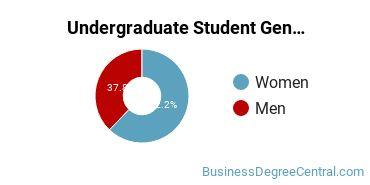 Undergraduate Student Gender Diversity at  The American University
