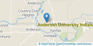 Location of Anderson University Indiana