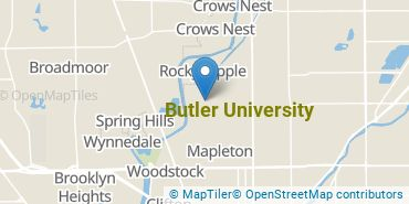 Location of Butler University