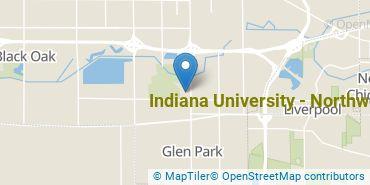 Location of Indiana University - Northwest