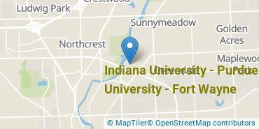 Location of Indiana University - Purdue University - Fort Wayne