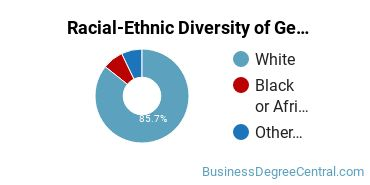 Racial-Ethnic Diversity of General Business/Commerce Majors at Saint Cloud State University
