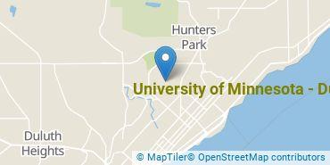 Location of University of Minnesota - Duluth
