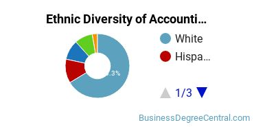 Accounting Majors in CT Ethnic Diversity Statistics