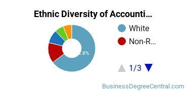 Accounting Majors in MA Ethnic Diversity Statistics