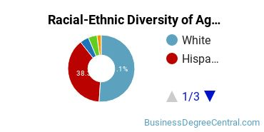 Racial-Ethnic Diversity of Agricultural Business Tech Students with Bachelor's Degrees