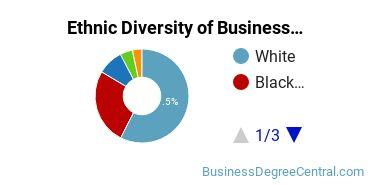 Business Administration & Management Majors in AL Ethnic Diversity Statistics