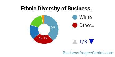 Business Administration & Management Majors in AZ Ethnic Diversity Statistics