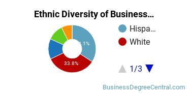 Business Administration & Management Majors in CA Ethnic Diversity Statistics