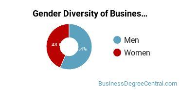 Business Administration & Management Majors in CT Gender Diversity Statistics