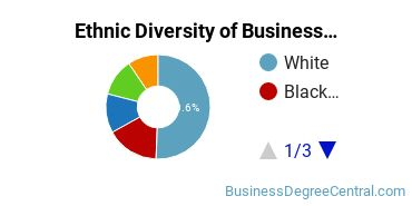 Business Administration & Management Majors in IL Ethnic Diversity Statistics