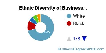 Business Administration & Management Majors in IN Ethnic Diversity Statistics