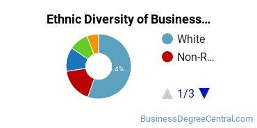 Business Administration & Management Majors in KS Ethnic Diversity Statistics