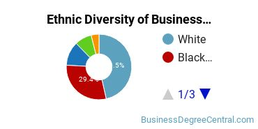 Business Administration & Management Majors in MD Ethnic Diversity Statistics