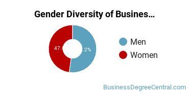 Business Administration & Management Majors in NE Gender Diversity Statistics