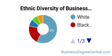 Business Administration & Management Majors in NC Ethnic Diversity Statistics