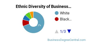 Business Administration & Management Majors in PA Ethnic Diversity Statistics