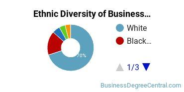 Business Administration & Management Majors in TN Ethnic Diversity Statistics
