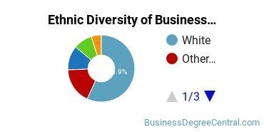 Business Administration & Management Majors in WA Ethnic Diversity Statistics