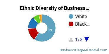 Business Administration & Management Majors in WV Ethnic Diversity Statistics