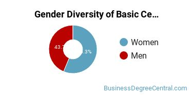 Gender Diversity of Basic Certificates in General Business