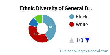 Business & Commerce Majors in DC Ethnic Diversity Statistics