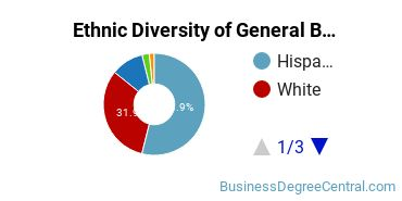 Business & Commerce Majors in NM Ethnic Diversity Statistics