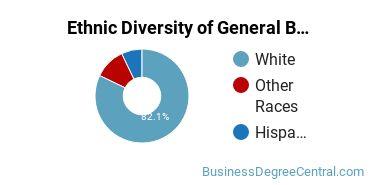 Business & Commerce Majors in ND Ethnic Diversity Statistics