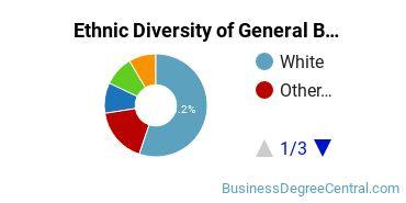 Business & Commerce Majors in OK Ethnic Diversity Statistics