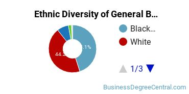 Business & Commerce Majors in TN Ethnic Diversity Statistics