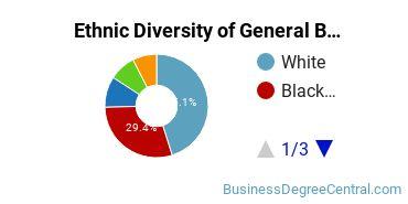 Business & Commerce Majors in VA Ethnic Diversity Statistics