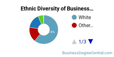 Business Support & Assistance Majors in WA Ethnic Diversity Statistics