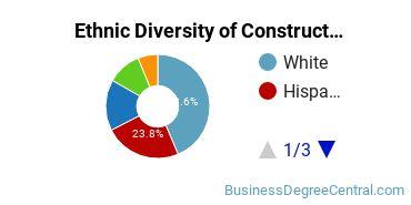 Construction Management Majors in CA Ethnic Diversity Statistics
