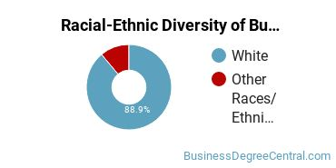 Racial-Ethnic Diversity of Business Communications Associate's Degree Students