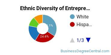 Entrepreneurial Studies Majors in CA Ethnic Diversity Statistics