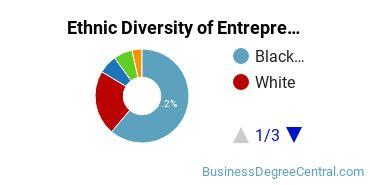 Entrepreneurial Studies Majors in DC Ethnic Diversity Statistics