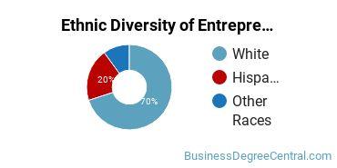 Entrepreneurial Studies Majors in ID Ethnic Diversity Statistics