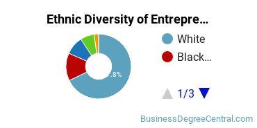 Entrepreneurial Studies Majors in IN Ethnic Diversity Statistics