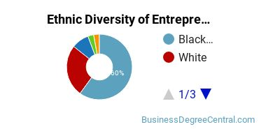 Entrepreneurial Studies Majors in LA Ethnic Diversity Statistics