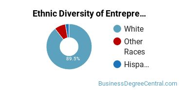 Entrepreneurial Studies Majors in ME Ethnic Diversity Statistics