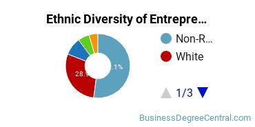 Entrepreneurial Studies Majors in MA Ethnic Diversity Statistics