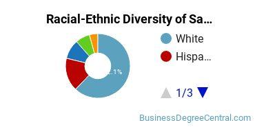 Racial-Ethnic Diversity of Sales & Marketing Associate's Degree Students