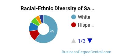 Racial-Ethnic Diversity of Sales & Marketing Students with Bachelor's Degrees