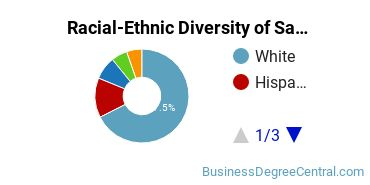 Racial-Ethnic Diversity of Sales & Marketing Bachelor's Degree Students